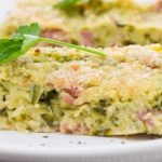 Omlet z brokułów i szynki